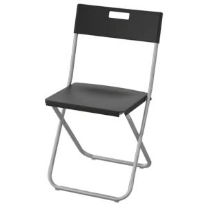 """Krzesło czarne składane typu """"klapiak """""""